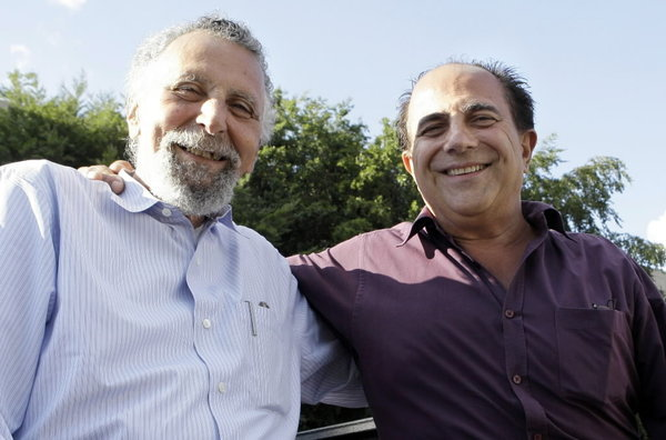 """Car Talk"" hosts Tom and Ray Magliozzi."