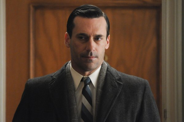 A toothache-y Don Draper (Jon Hamm) in the Season 5 finale.