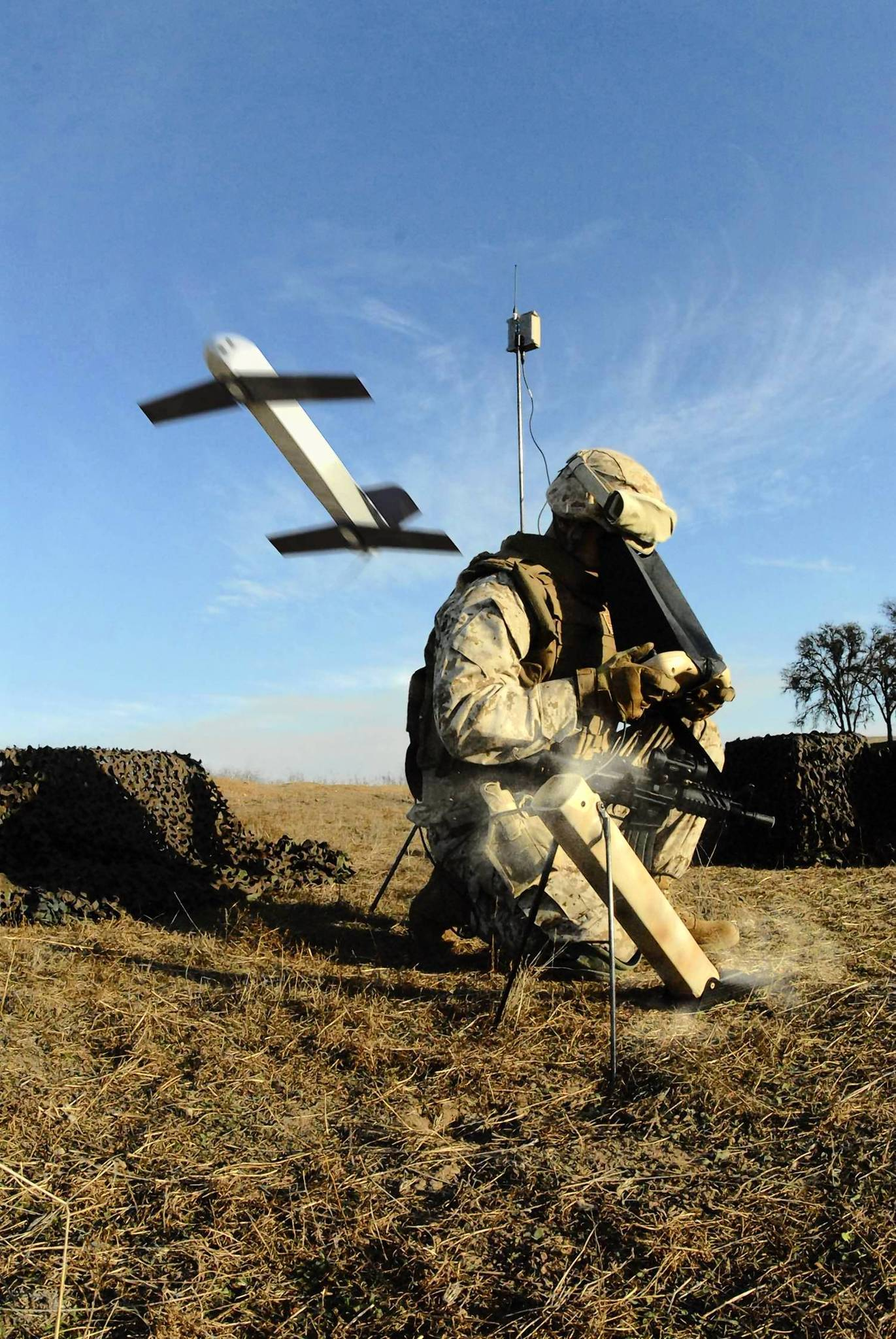 The Switchblade drone is designed to fit into a soldier's rucksack. It weighs less than 6 pounds and can take out a sniper on a rooftop, without blasting the building to bits. The drone also enables soldiers in the field to identify and destroy targets much more quickly by eliminating the need to call in a strike from large drones that may be hundreds of miles away.