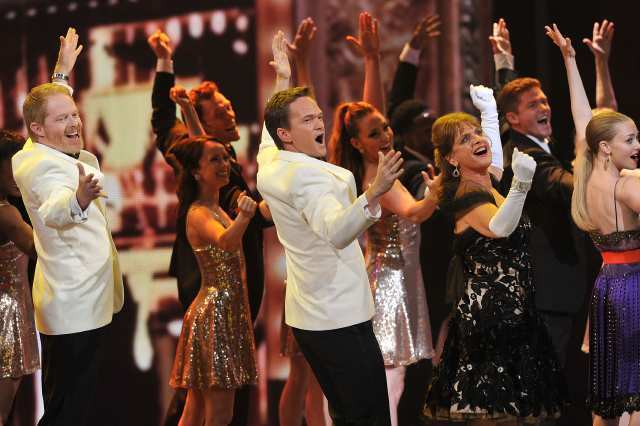 Neil Patrick Harris and friends at the 66th Tony Awards at the Beacon Theatre on Sunday.