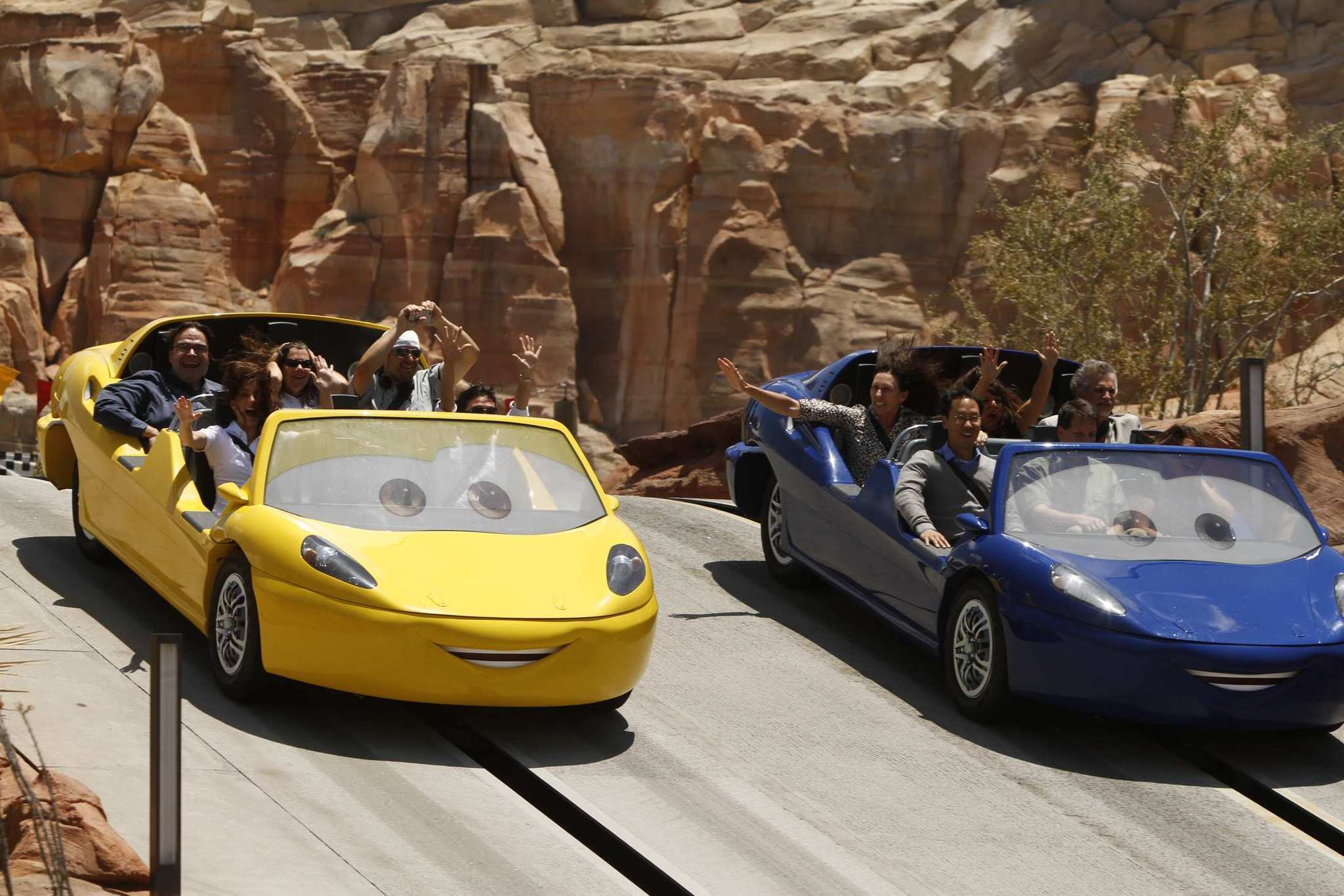 "The Radiator Springs Racers are the featured ""E-ticket"" ride at Cars Land."