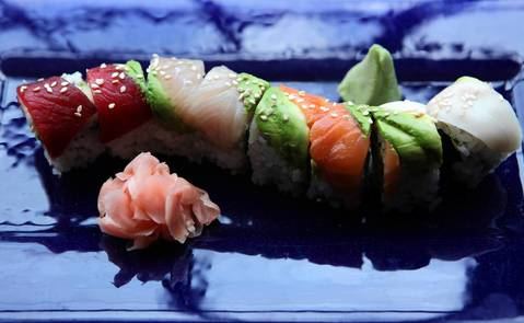 The Sunda rainbow roll is a favorite at Sunda Restaurant.