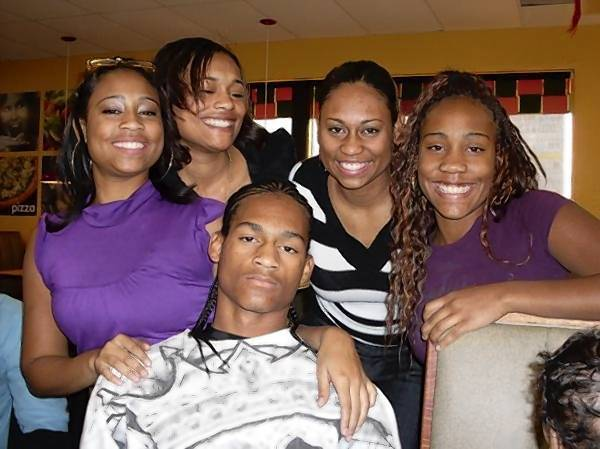 Club Limelite shooting victim Dino Cannon is pictured in a undated photo with his four sisters.