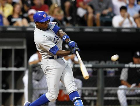 Alfonso Soriano crushes a solo shot against the Sox in the 5th inning.