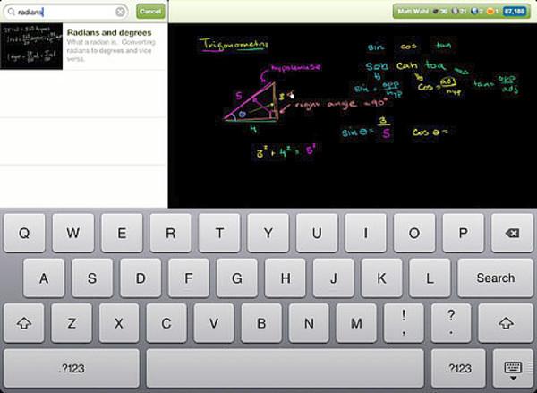 Khan Academy screenshot.
