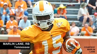 Marlin Lane, a former Clemson commitment, scored four touchdowns as a Tennessee freshman this past season.