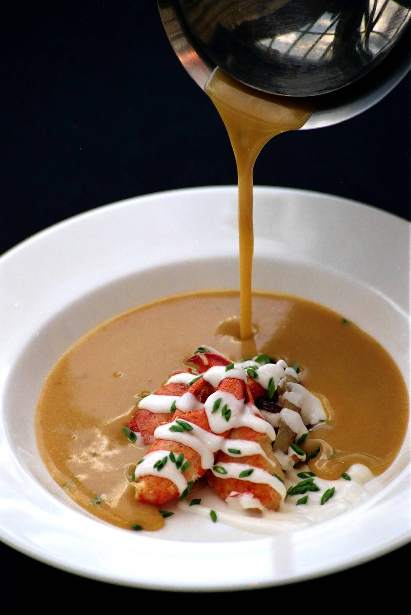 Manuel's on the 28th Golden Lobster Bisque. The restaurant had a critically acclaimed 15 year run in downtown Orlando.