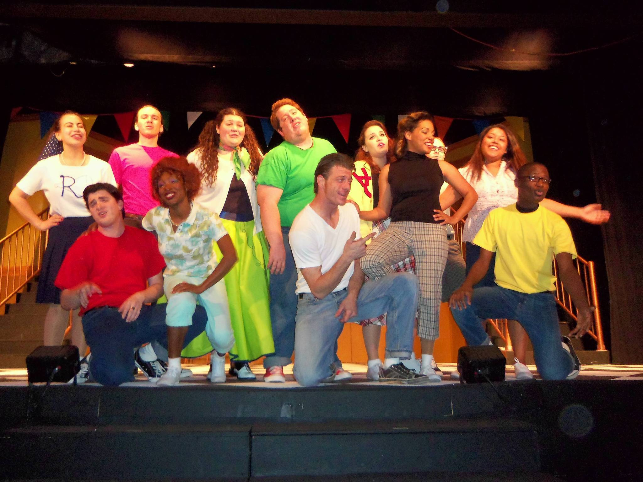 Members of the cast of 'Grease' being staged by the Melon Patch Players.