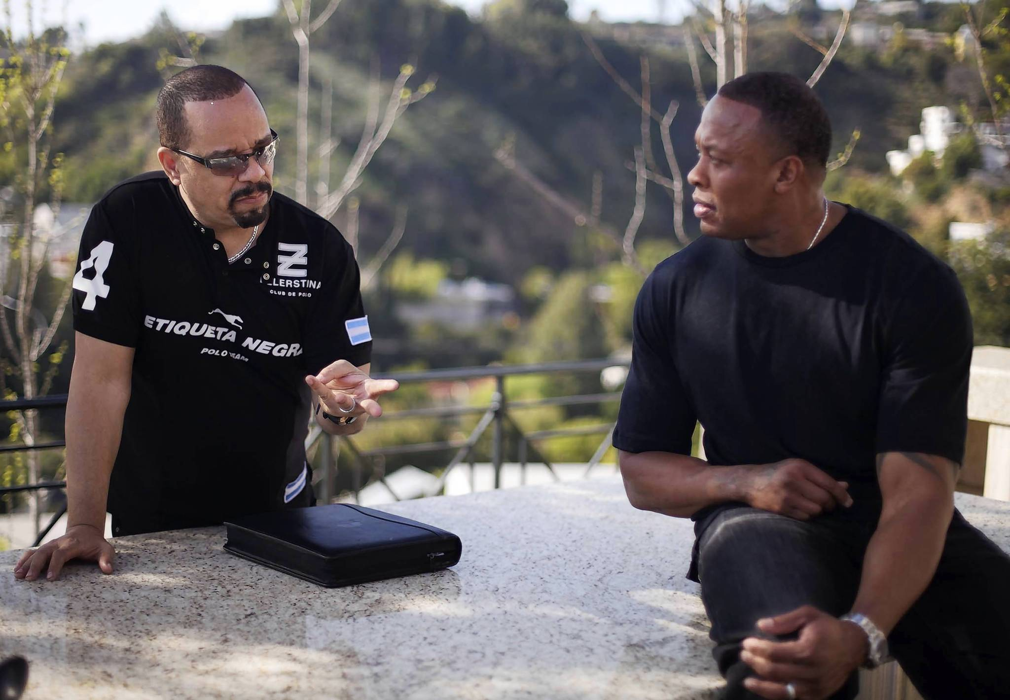 "Ice-T, left, and Dr. Dre in the hip-hop documentary ""Something From Nothing: The Art of Rap."""
