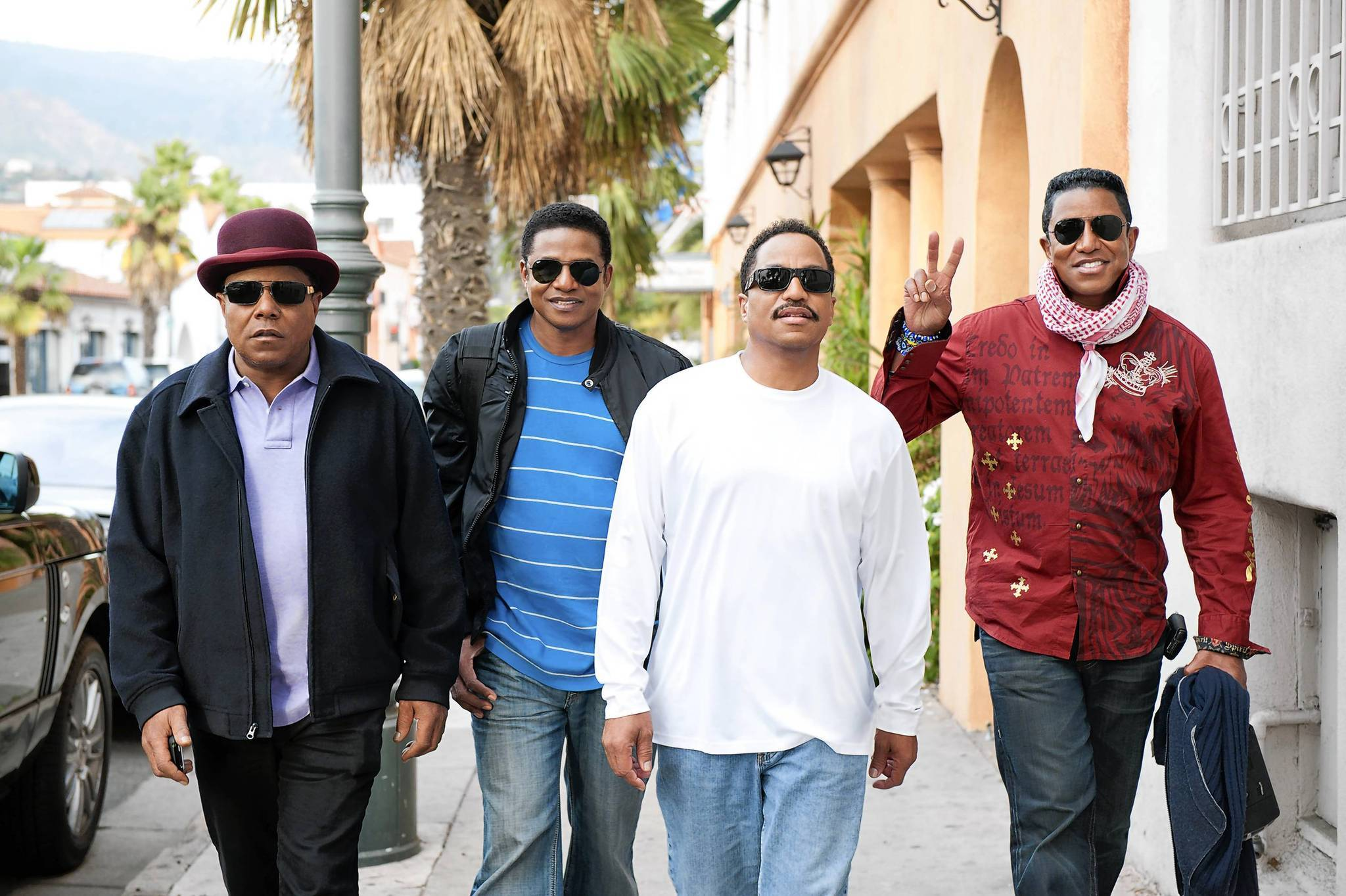 The Jacksons (left to right: Tito, Jackie, Marlon and Jermaine Jackson).