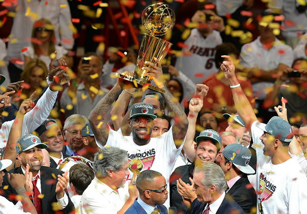 ABC's final broadcast of the 2012 NBA Finals beat the other networks. Game 5 with LeBron James, center, Dwayne Wade and company vying for the title, easily won the night for ABC.