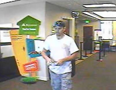Police say Kevin Cotterman is the man pictured in a Regions Bank in Winter Garden last week. He was arrested June 22, 2012 on charges of robbing banks in 4 counties.