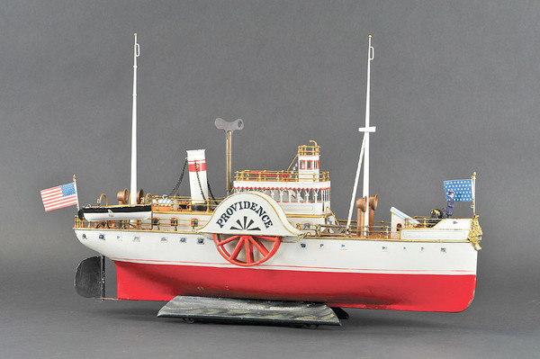When Bertoia Auctions sold off part of a private collection of toy boats, Providence, a 26 in. steamboat, brought $247,250.