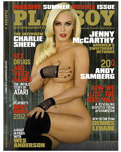 Funnywoman Jenny McCarthy, who got her big break on the pages of Playboy 1993 when she was Playmate of the Year, is back in the gentlemen's magazine in the July/August 2012 issue.
