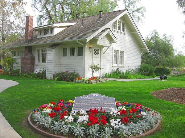 The birthplace of Richard M. Nixon, 37th president of the United States. Nixon was born and lived here from 1913 to 1922. Built in 1913 by his father, Francis A. Nixon from a home building kit. The National Historic Landmark is on the grounds of the Richard Nixon Presidential Library and Museum.