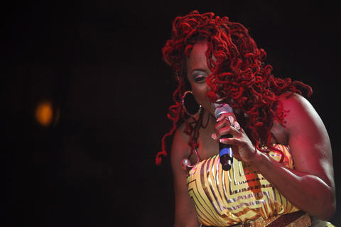 Ledisi performs during the second evening of the Hampton Jazz Festival at Hampton Coliseum on Saturday.