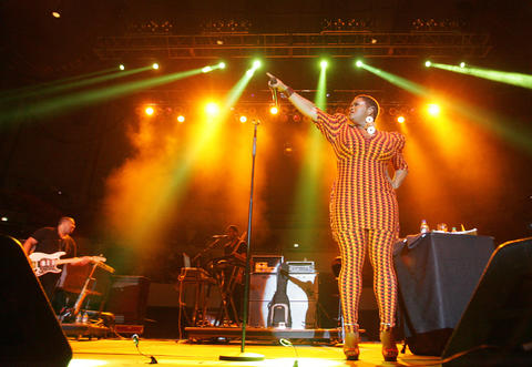 Jill Scott performs at the 45th annual Hampton Jazz Festival at the Hampton Coliseum on Sunday, June 24, 2012.