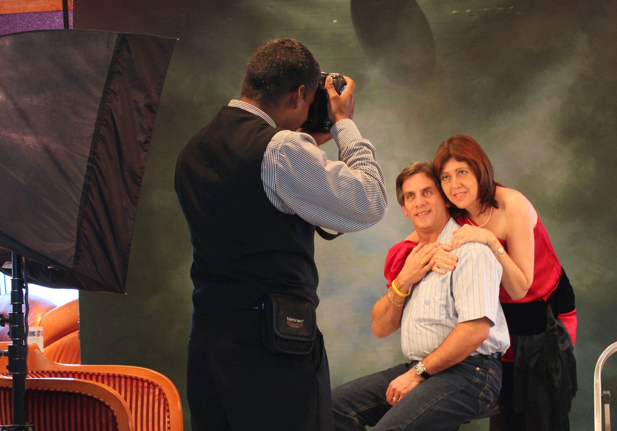 Cruise ships offer many opportunities for passengers to have their pictures taken.