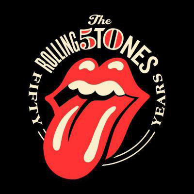 Artist Shepard Fairey's design for the Rolling Stones' 50th anniversary.