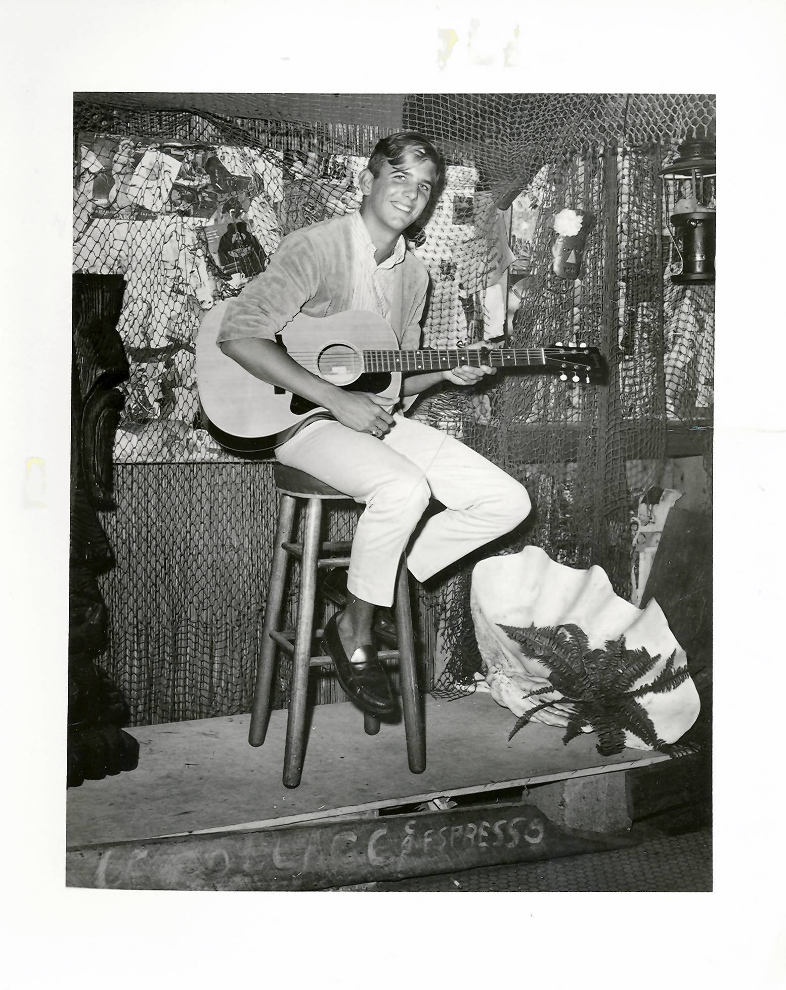 An upcoming book on Gram Parsons focuses on the singer's music in  the context of his life in the South.  The singer is pictured here in his early Florida folk days.
