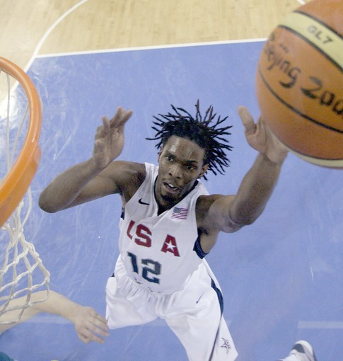 USA's forward Chris Bosh against Australia during their men's quarterfinal basketball game at the Beijing 2008 Olympics in Beijing, Wednesday, Aug. 20, 2008.