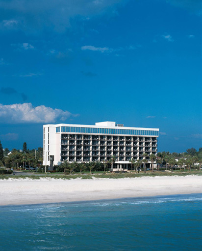 The Holiday Inn Lido Beach is located right on the Gulf of Mexico near Sarasota.