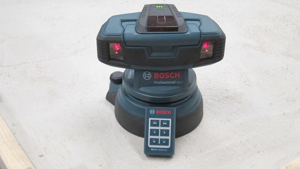 This new dual-laser tool can help you level floors in minutes. Its highly accurate and rotates the laser beams in a full circle.