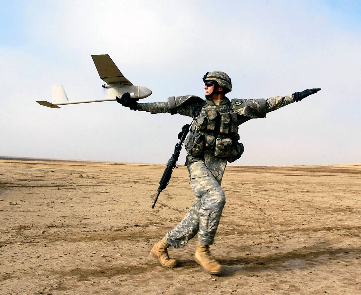 Lockheed Martin Global Training & Logistics in Orlando develops training technology for the Raven (pictured here), a tiny surveillance drone that can be hand-launched by infantry soldiers.