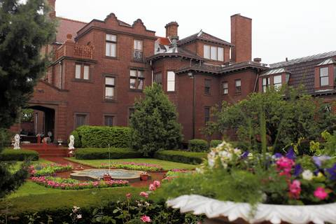 South Shore Line riders can walk a half mile from the 11th Street station to the Barker Mansion at 631 Washington St. in Michigan City where guided tours are offered daily from 10 a.m. to 2 p.m. The mansion is the former home of John Barker who made his fortune building boxcars for railroads.