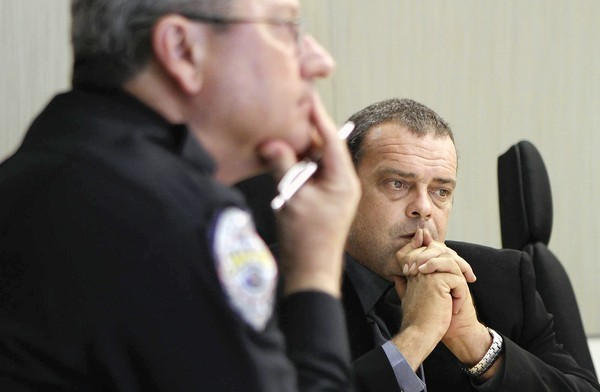 During an exclusive interview, then-Sanford police Chief Bill Lee Jr., left, and lead investigator Chris Serino talk March 16 about the Trayvon Martin shooting incident.