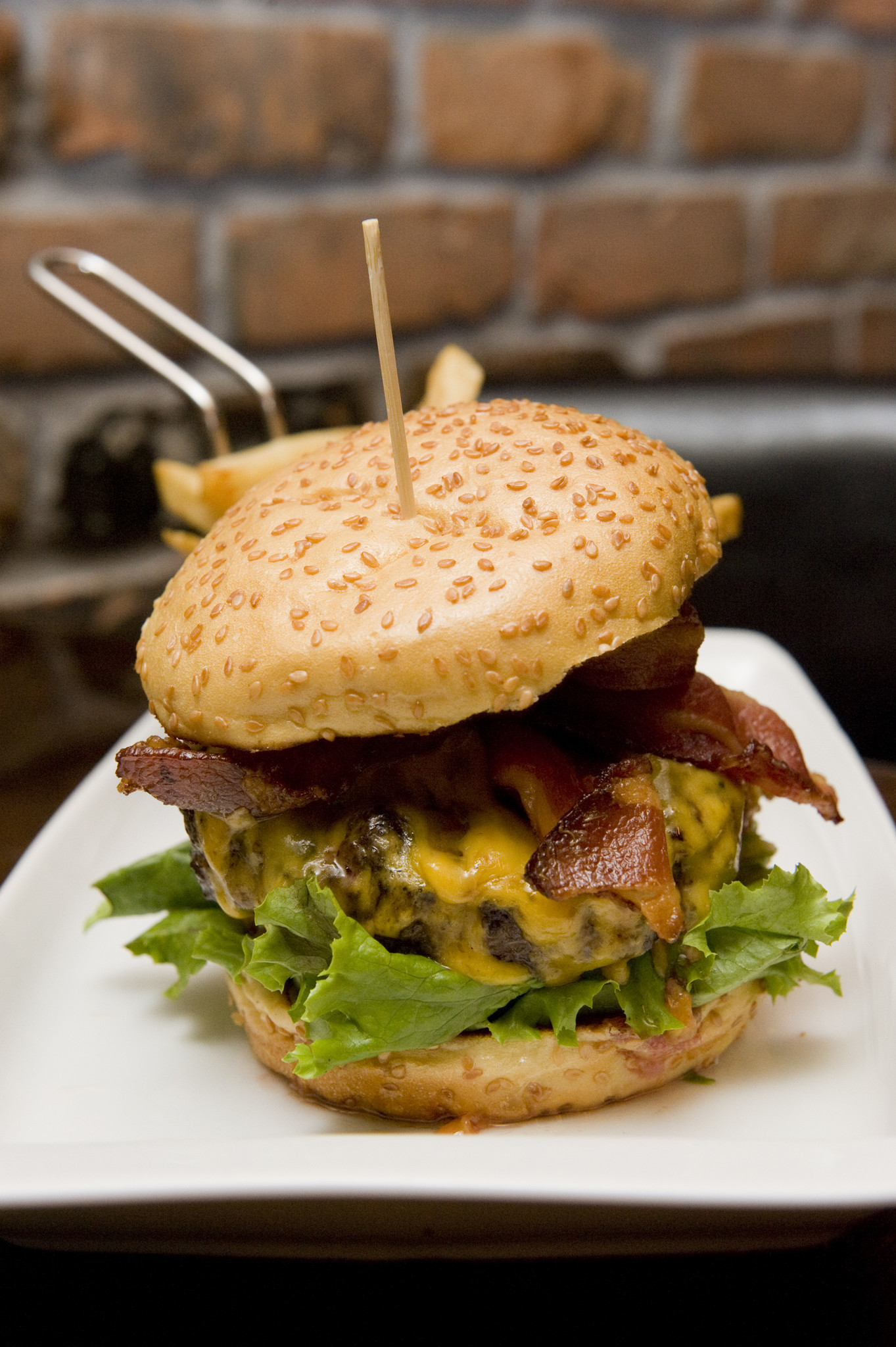 The Rok Brgr is one of the specialties at ROK:BRGR Burger Bar   Gastropub in Fort Lauderdale. The burger bar, which specializes in  specialty burgers, is planning to take its gourmet burger concept into Miami and Delray Beach in 2012. Photo by