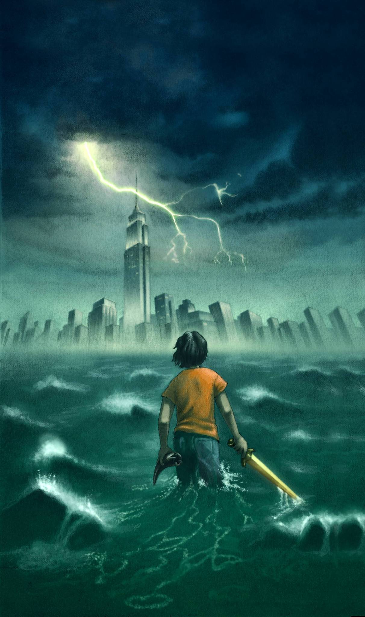 "John Rocco's art can be seen on the cover of ""The Lightning Thief,"" the first book in the Percy Jackson and the Olympians series."