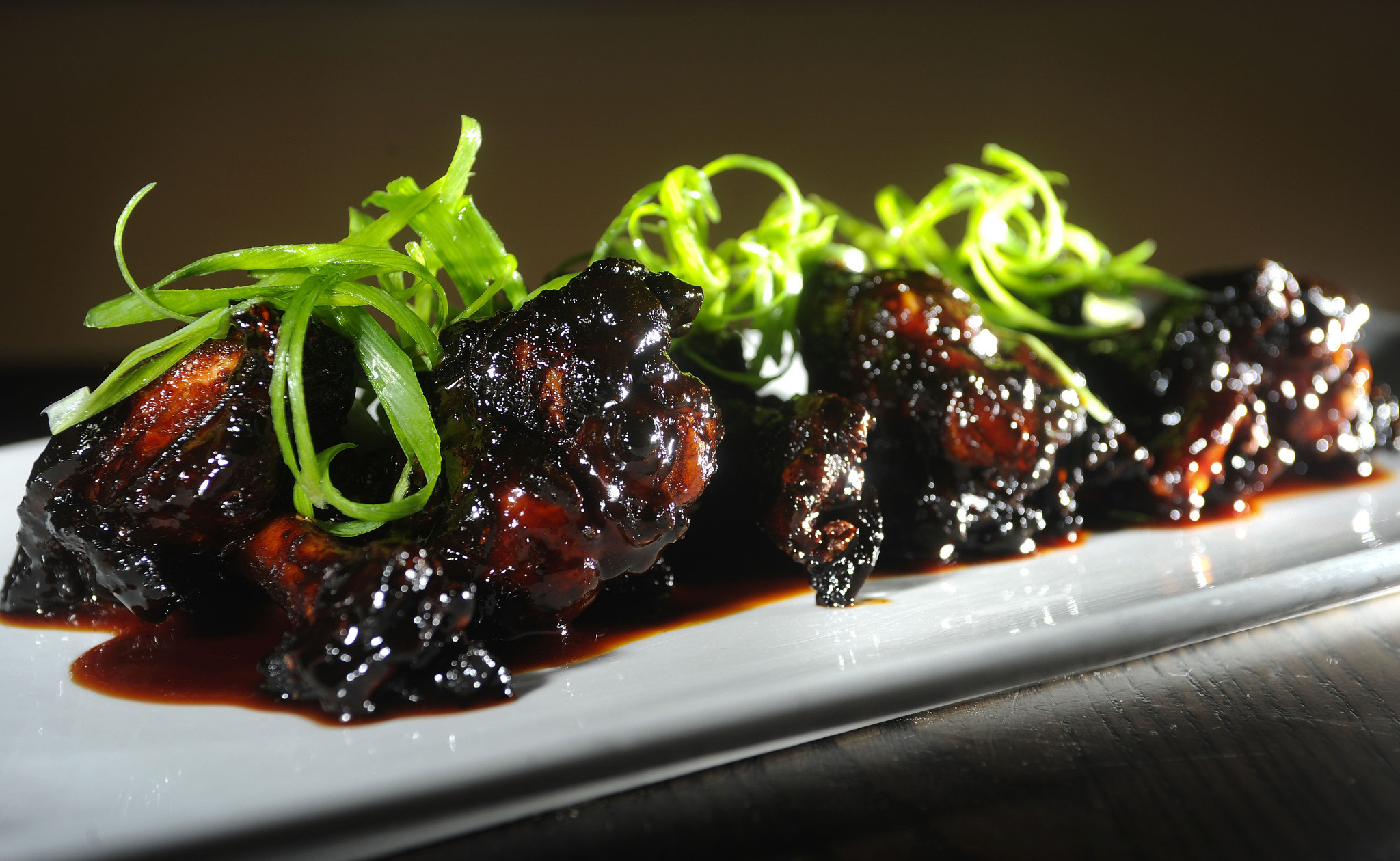 Mahogany-Glazed Chicken Wings at Max's Grille in Boca Raton.