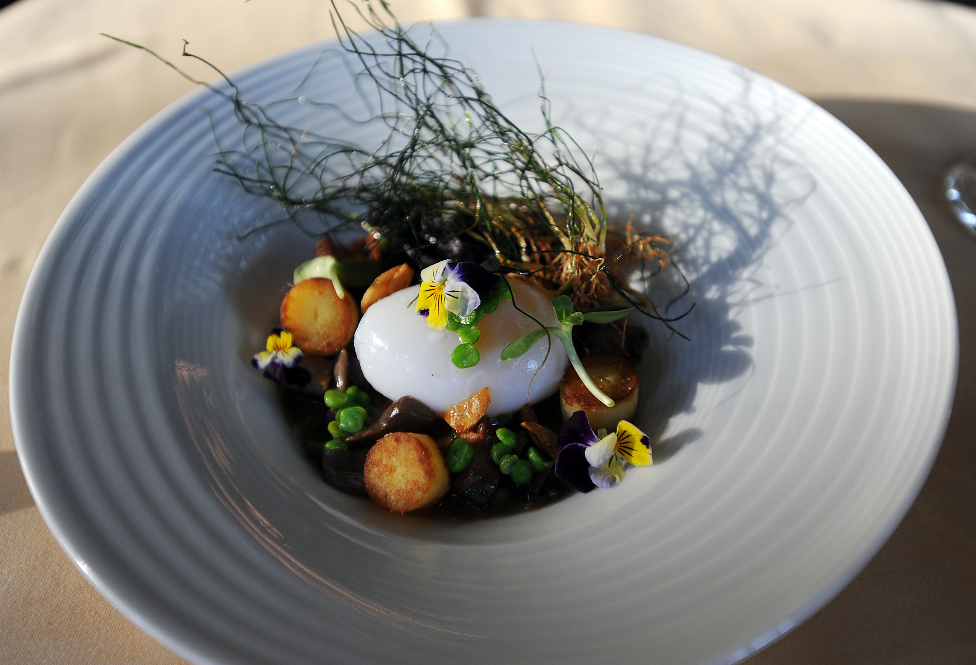 Hot Spring Duck Egg from L'Escalier