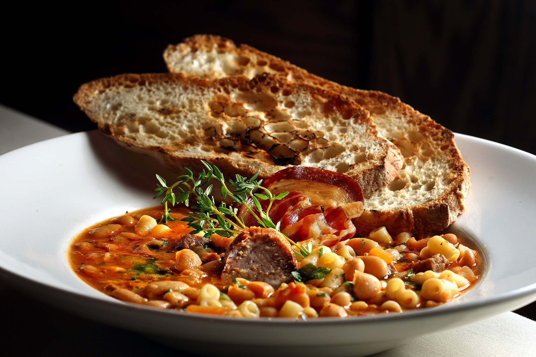 Tuscan bean soup at  Pa' DeGennaro's  in Lauderdale-by-the-Sea.