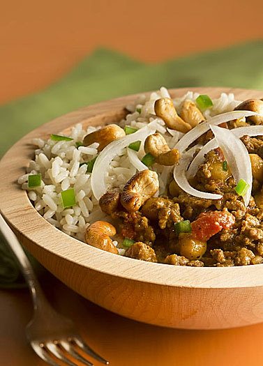 Indian lamb, cashew stew: Brown-fry is unique to Indian cuisine. Compared to browning, the technique calls for more oil  and more attention.