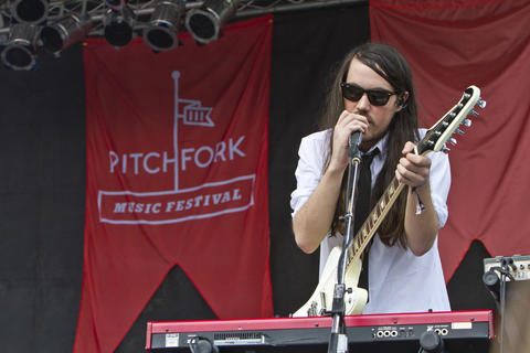 Cults performs at the 2012 Pitchfork Music Festival in Union Park on July 14, 2012.