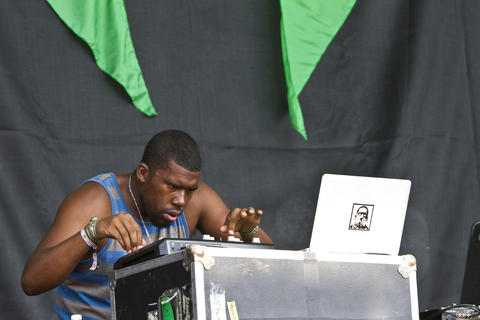 Flying Lotus performs at the 2012 Pitchfork Music Festival in Union Park on July 14, 2012.