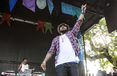 Schoolboy Q performs at the 2012 Pitchfork Music Festival in Union Park on July 14, 2012.