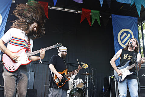 Milk Music performs at the 2012 Pitchfork Music Festival in Union Park on July 15, 2012.