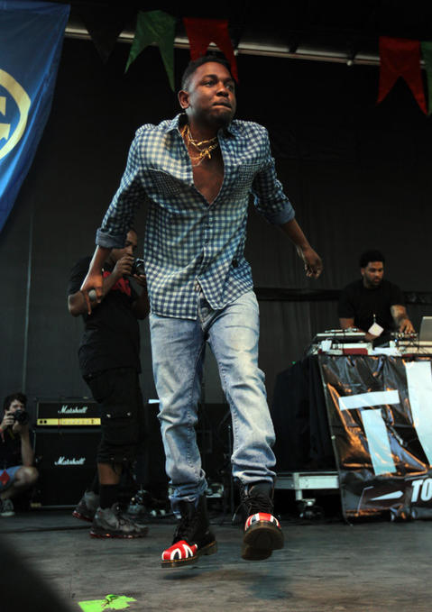 Kendrick Lamar during Pitchfork Music Festival in Union Park in Chicago on Sunday, July 15, 2012.