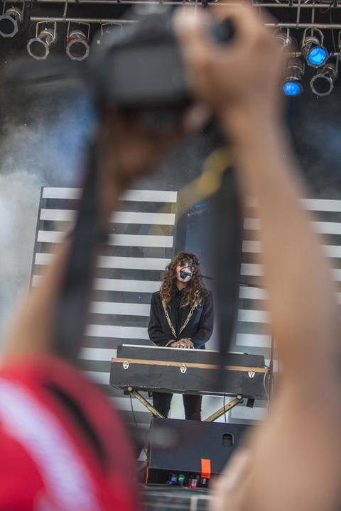 Victoria Legrand of Beach House during Pitchfork Music Festival in Union Park in Chicago on Sunday, July 15, 2012.