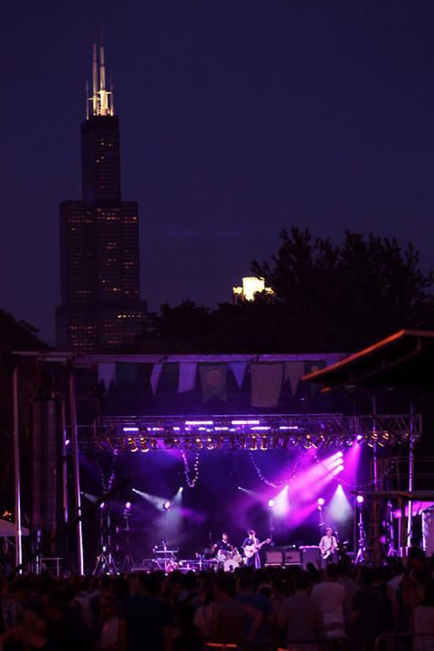 Vampire Weekend performs at the Pitchfork Music Festival in Union Park in Chicago on Sunday, July 15, 2012.