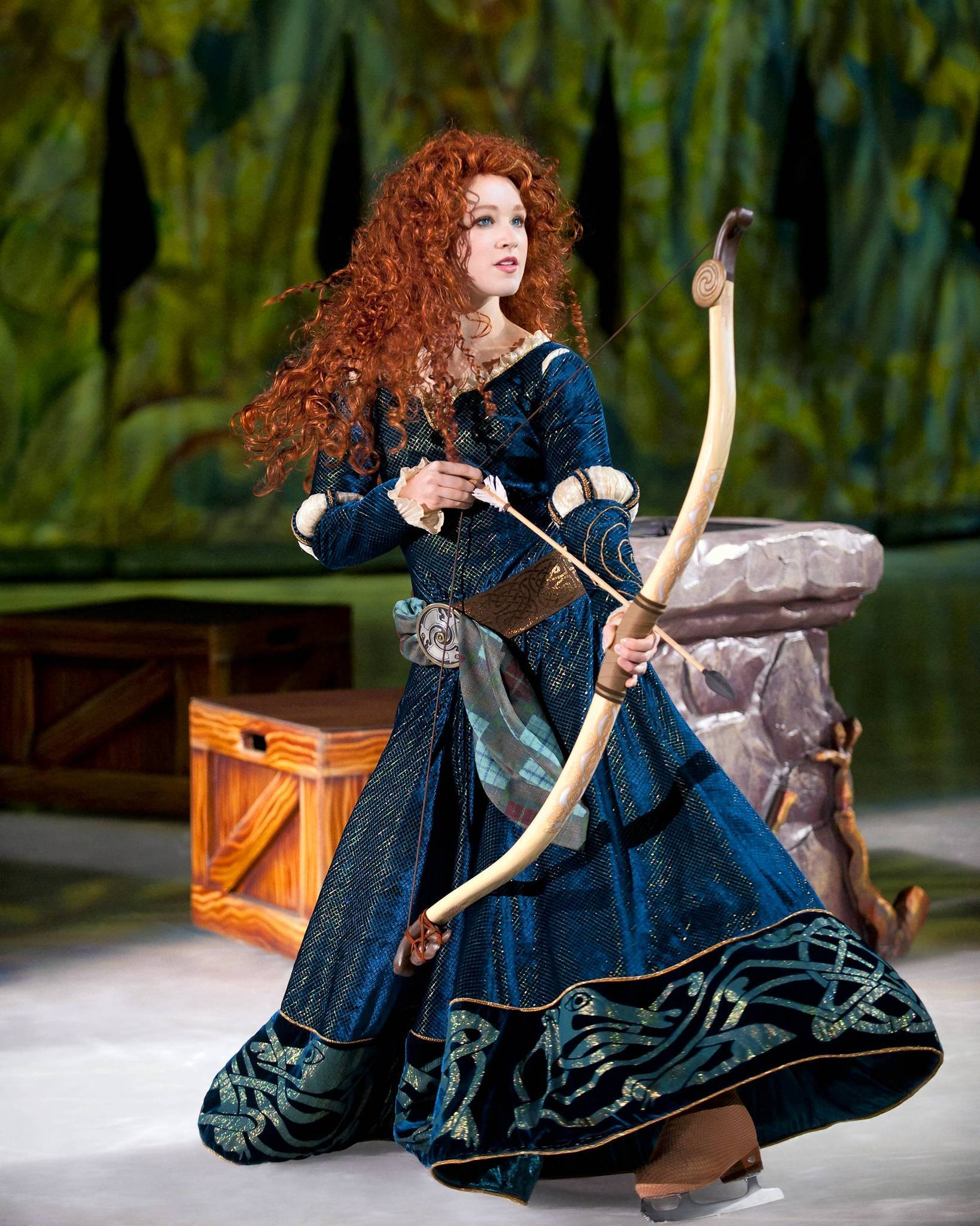"Merida of ""Brave"" appears in ""Disney on Ice: Rockin' Ever After."""