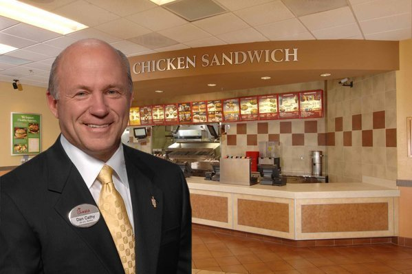 "Chick-fil-A President Dan Cathy, who told Baptist Press that the chain is ""guilty as charged"" in supporting the biblical definition of family."