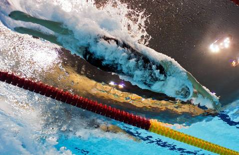 U.S. swimmer Allison Schmitt competes in the women's 200m freestyle heats swimming event at the London 2012 Olympic Games.