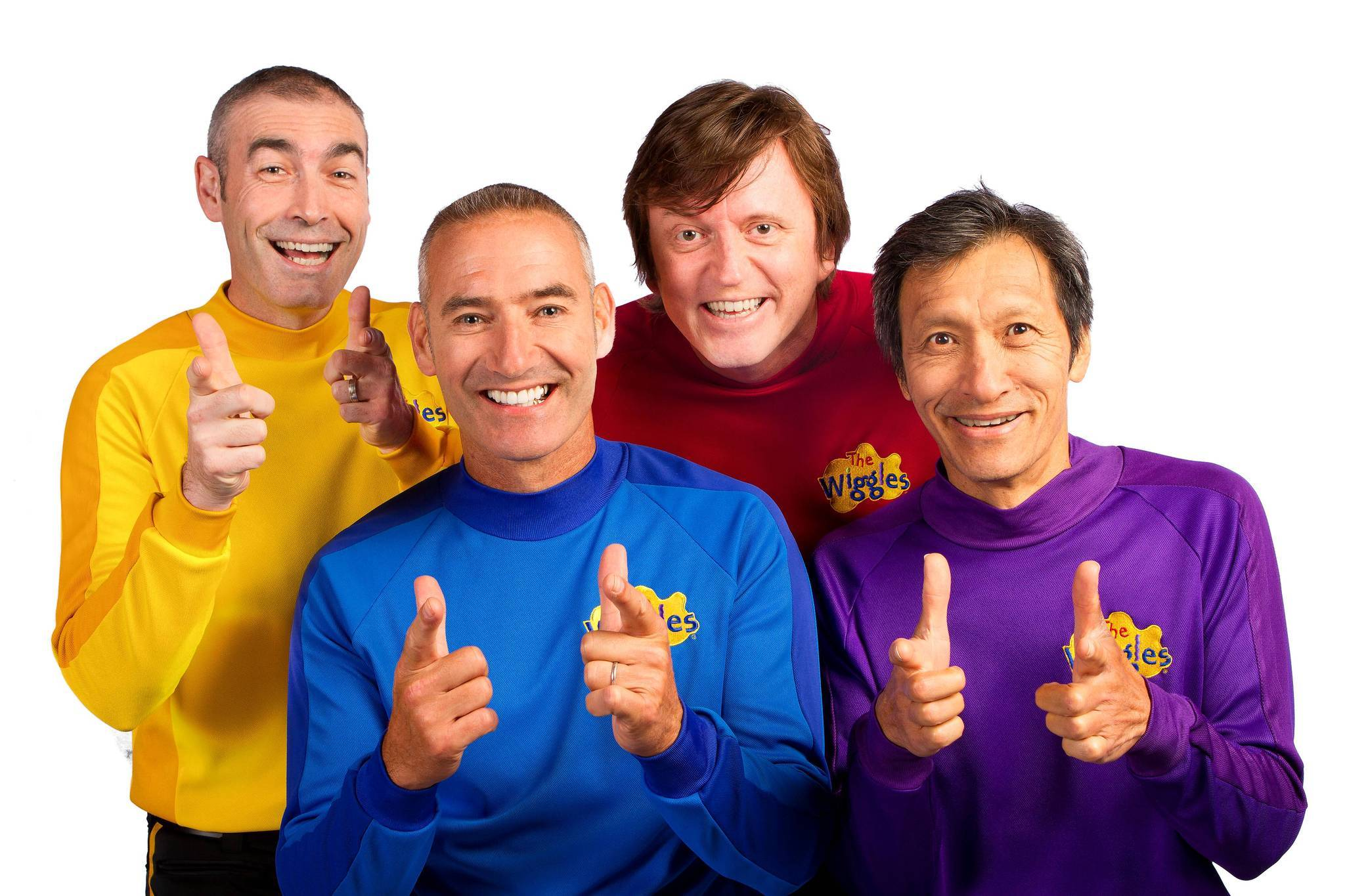 The Wiggles will perform Aug. 4 at Hard Rock Live in Orlando. (L-R: Greg Page, Anthony Field, Murray Cook and Jeff Fatt.)