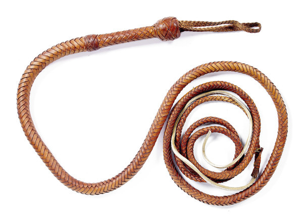 The Indiana Jones bullwhip from Raiders of the Lost Ark sold for $31,250 at Bonhams LA this summer.