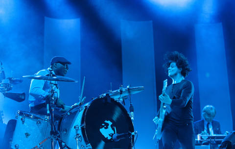 Jack White performs at Lollapalooza Sunday, Aug. 5 2012