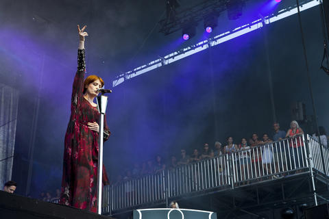 Florence + The Machine performs at Lollapalooza Sunday, Aug. 5 2012